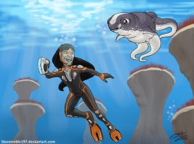 A girl and her Cuddlefish