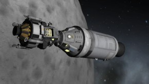Jani MK2 and its lander in orbit of the Moon